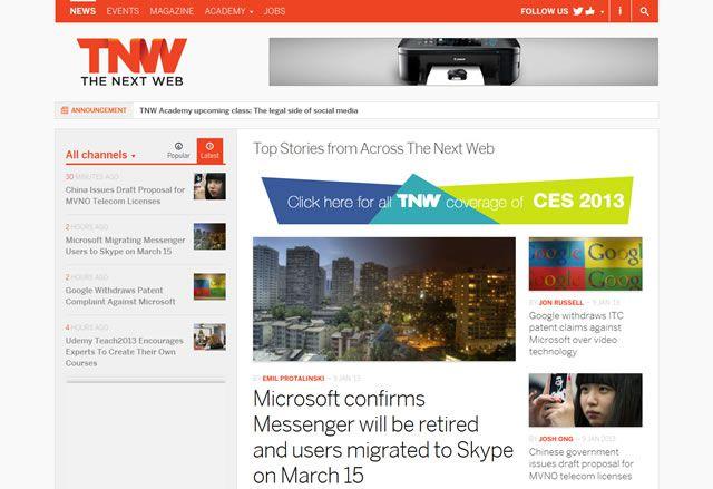 examples web design flat The Next Web