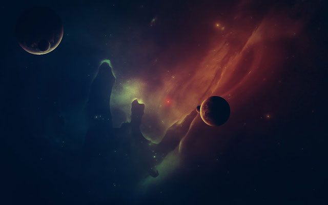 Desktop Out in Space Abstract Colorful Wallpapers