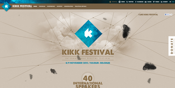 KIKK example web site original Non-Standard Geometry