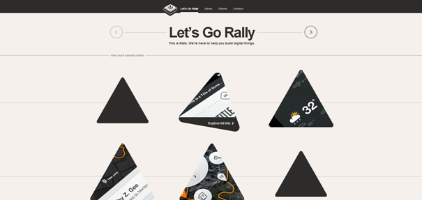 Rally Interactive example web site original Non-Standard Geometry