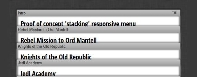 Stacking Responsive Menu