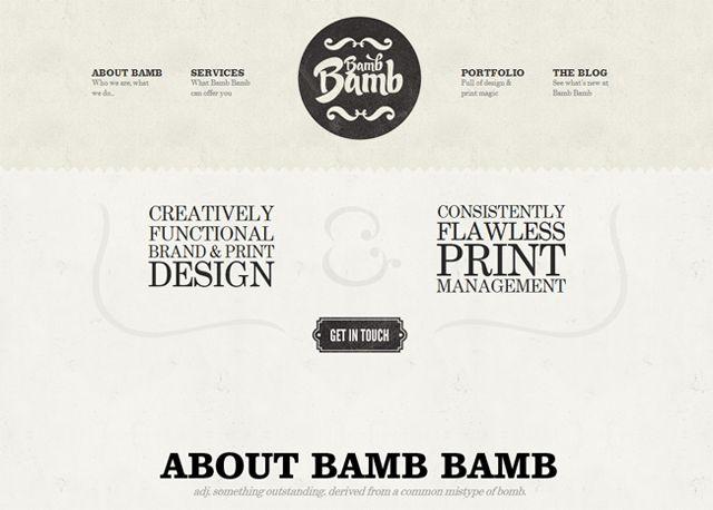 Bamb Bamb - Example of web design Symmetry