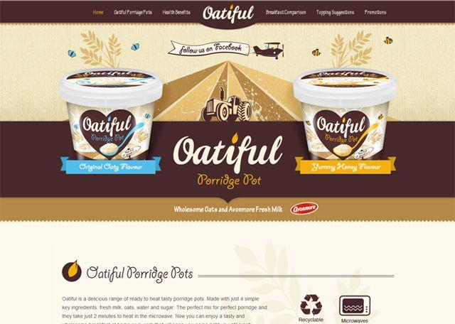 Oatiful as an example of symmetry in web design