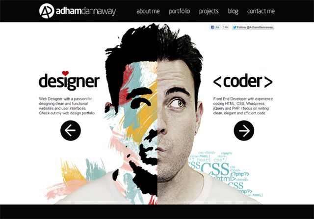 Adham Dannaway - Example of web design Symmetry