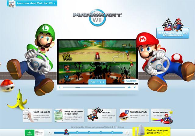 Mario Kart Wii - Example of symmetry in web design