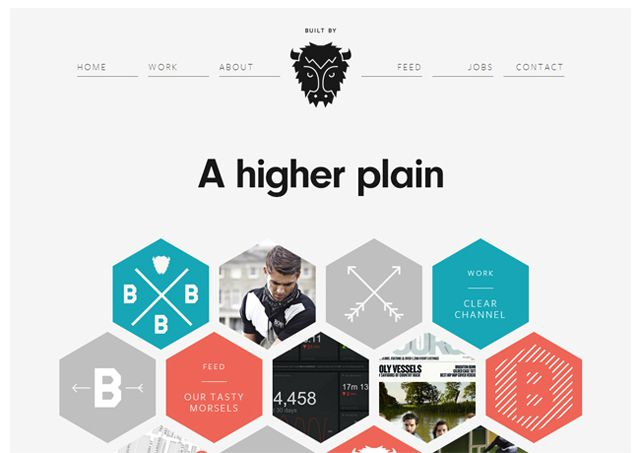 Built by Buffalo - Example of symmetry in web design