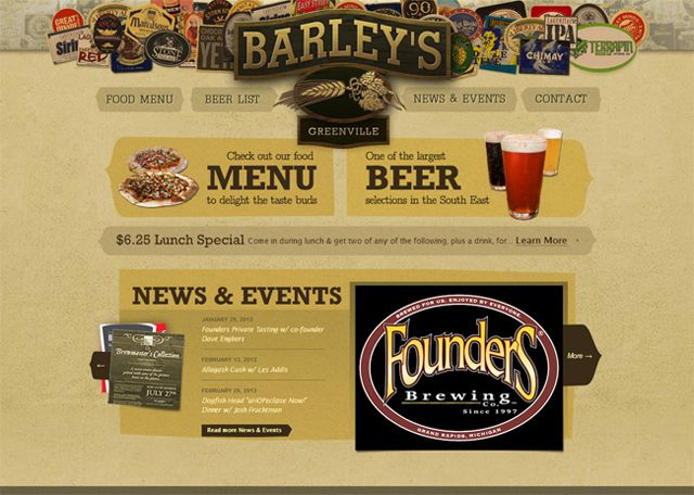 Barleys as a beautiful example of web design Symmetry