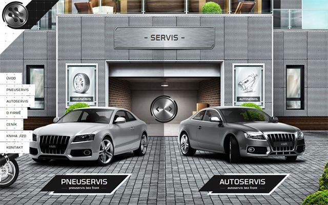 Servis - Example of web design Symmetry