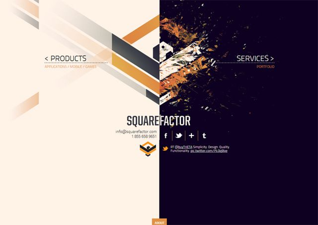 Square Factor - Example of symmetry in web design