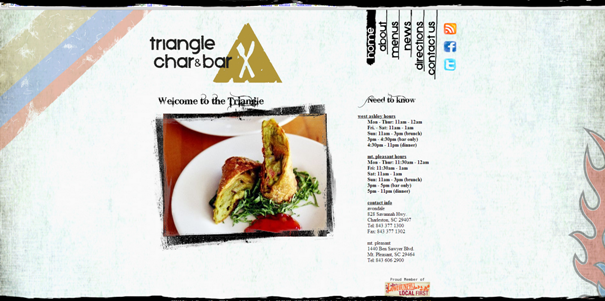 Triangle Char & Bar example web site original Non-Standard Geometry