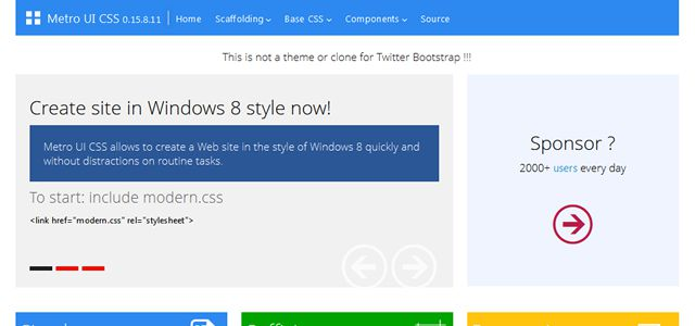 Metro UI CSS html css