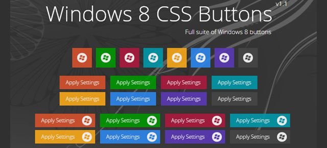 CSS Windows 8 Metro Buttons html css