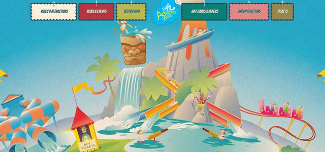 adventure world web design depth
