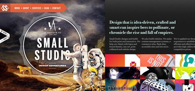 small studio web design depth