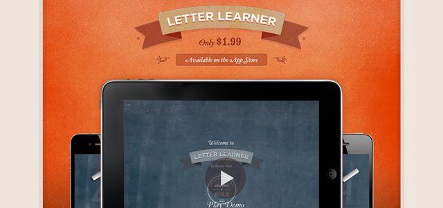 letter learner web design depth