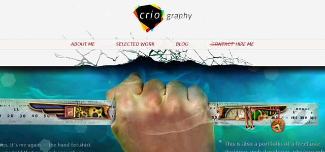 criography web design depth