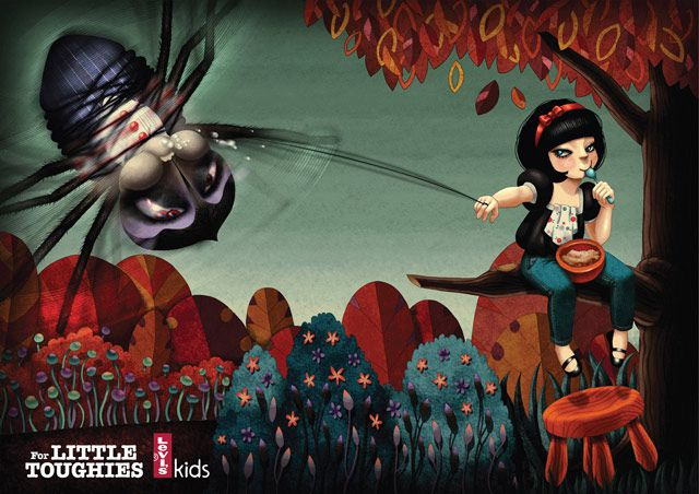 Levi's Kids digital Fairy Tale Ads inspired