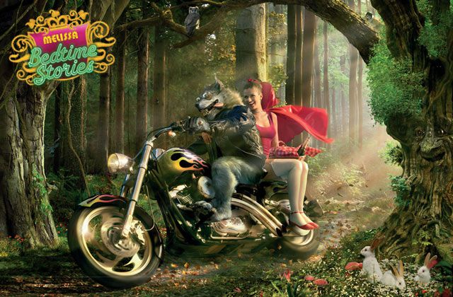 Little Red Riding Hood digital Fairy Tale Ads inspired