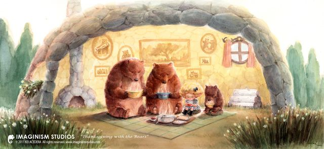 Thanksgiving with the Bears ads inspired by fairy tales