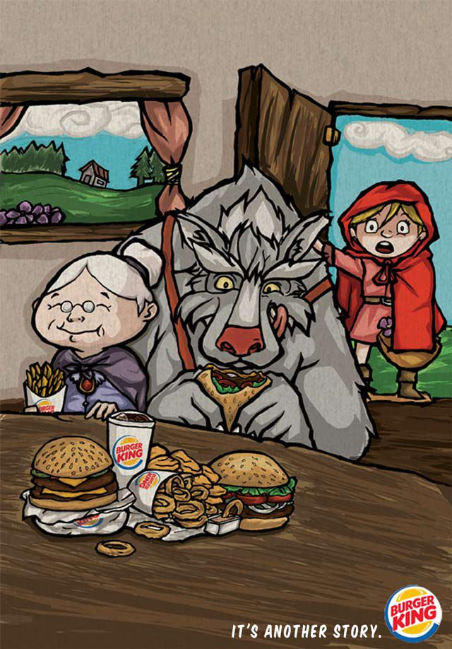 Burger King ads inspired by children tales