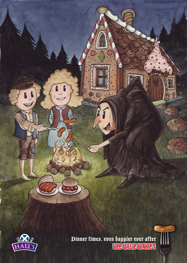 Hansel Gretel digital ad fairy tales inspired