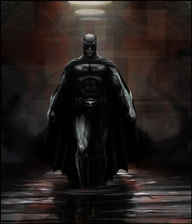 digital illustration Batman Below