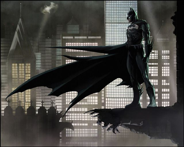 Batman Gotham City digital illustration