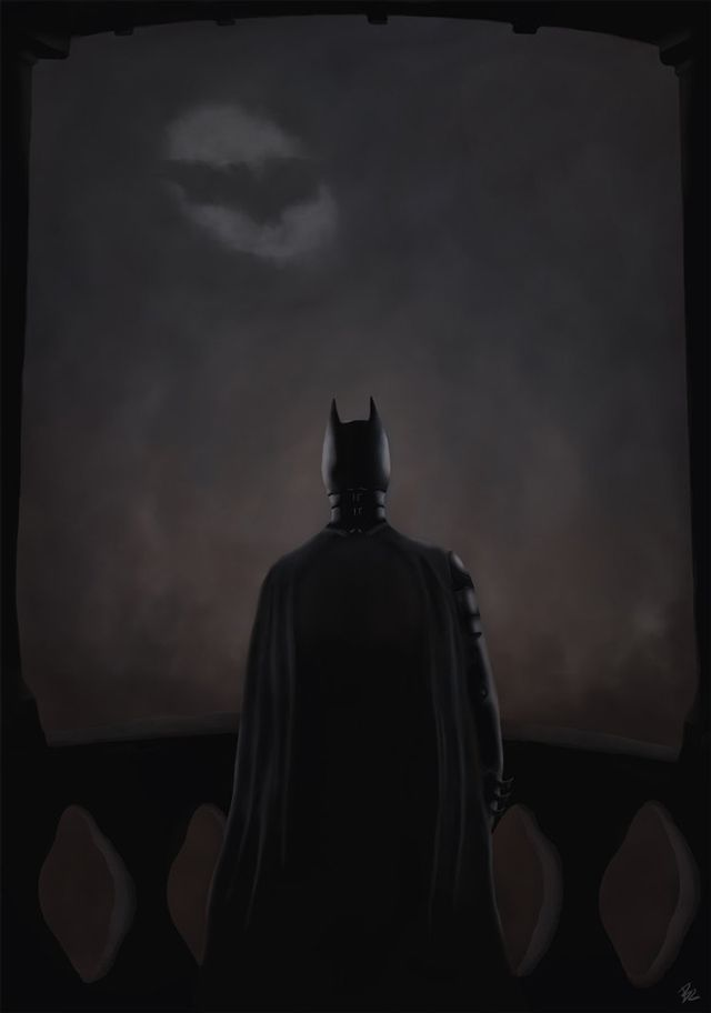 The Dark Knight digital illustration