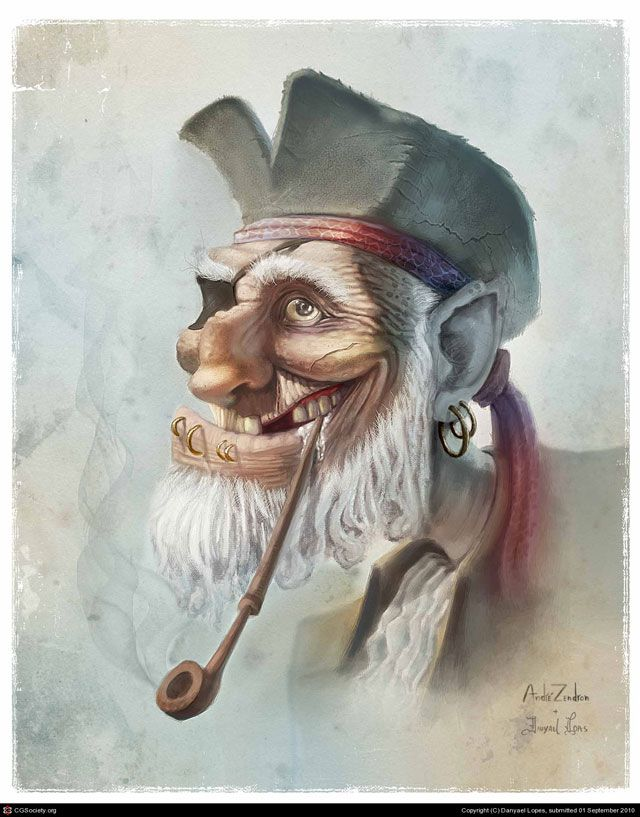 Old Pirate ilustration