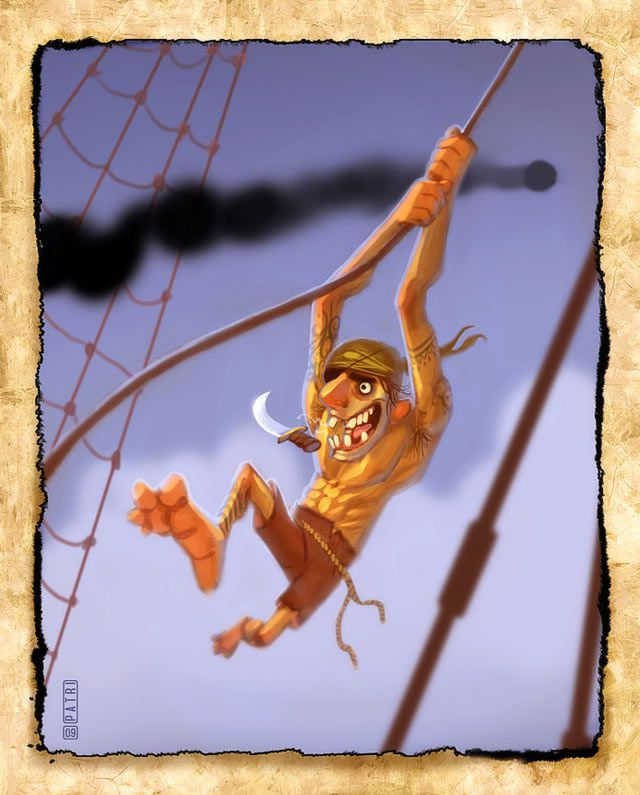 Rope Monkey Pirate
