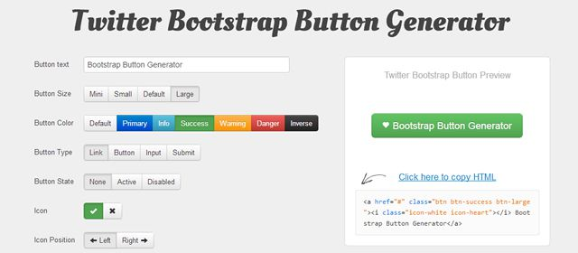 Bootstrap Button Generator