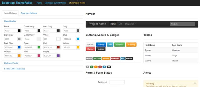 Bootstrap ThemeRoller - Customize the Look and Feel of Bootstrap