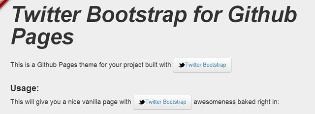 Bootstrap for Github Pages