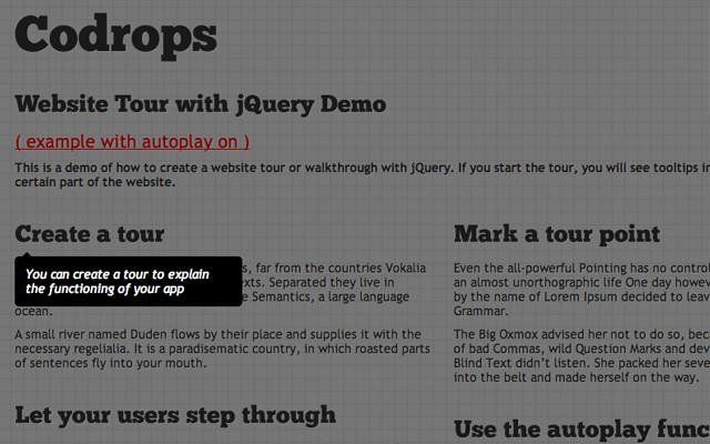 open source jquery plugin tour website beginners demo