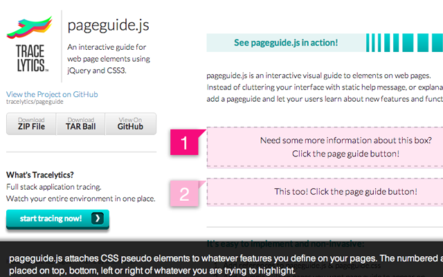 pageguide.js jquery codes webdev open source screenshot