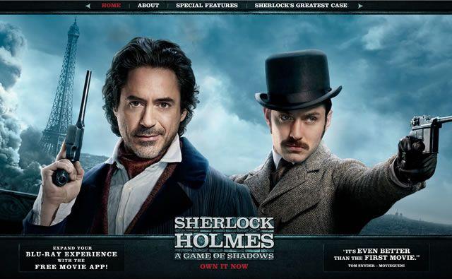 Sherlock Holmes II web site steampunk