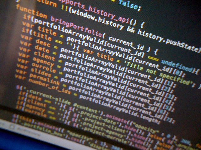 web ide programming screenshot code syntax