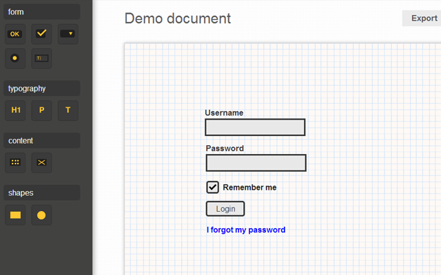 Github mockup designer interface wireframing