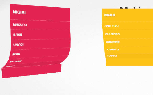 3d css3 dropdown menus open source github demo page