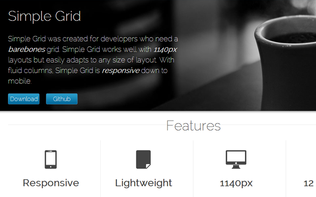 css css3 github webpage grids open source