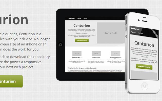 Centurion mobile webapp responsive framework css3