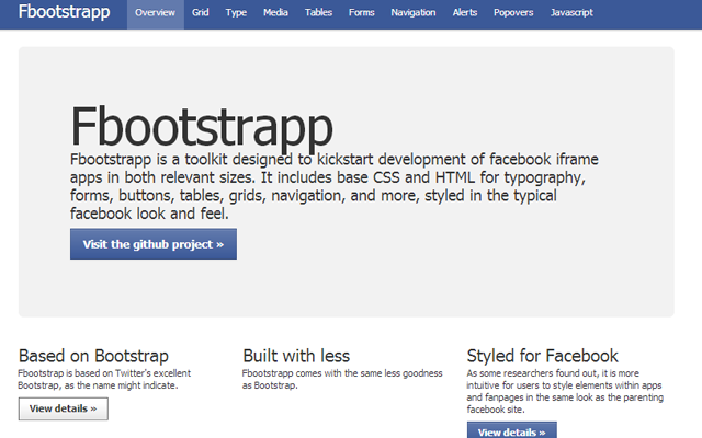 Facebook Bootstrap UI open source projects