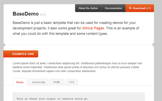 How to Design Custom Github Demo Pages