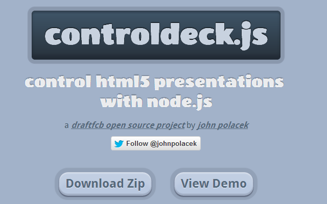 HTML5 presentations with node.js github webpage design