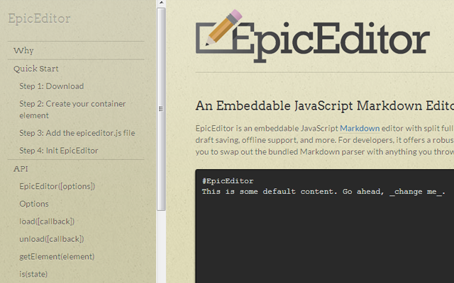 epic editor coding syntax ide open source projects