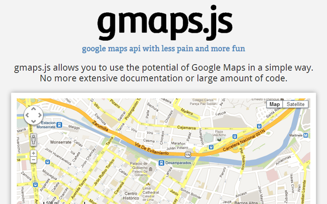 google maps gmaps javascript library