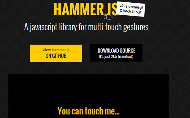mobile responsive javascript multi touch library github