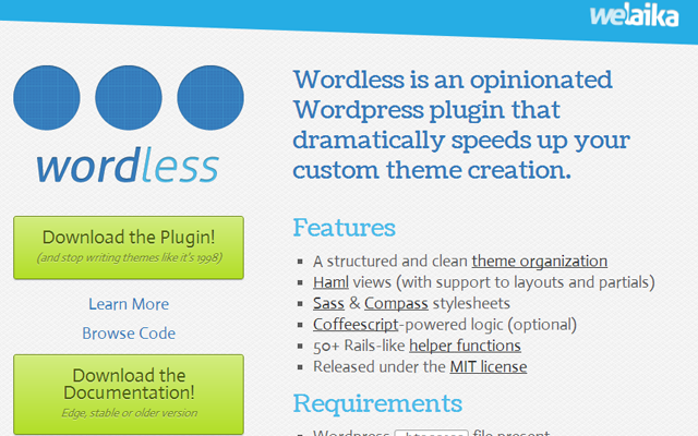 css styles less sass plugin wordpress open source pages