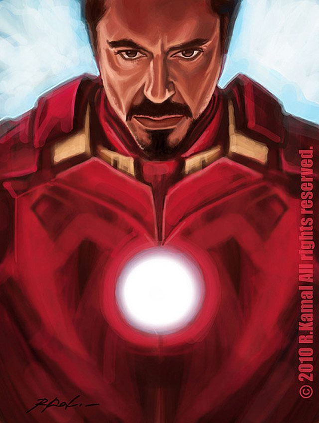 marvel Iron Man by Kamal digital artwork