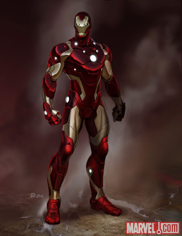 marvel Iron Man Armor digital artwork